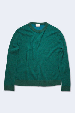 Men's Kassio Cashmere Sweater in Green Blue