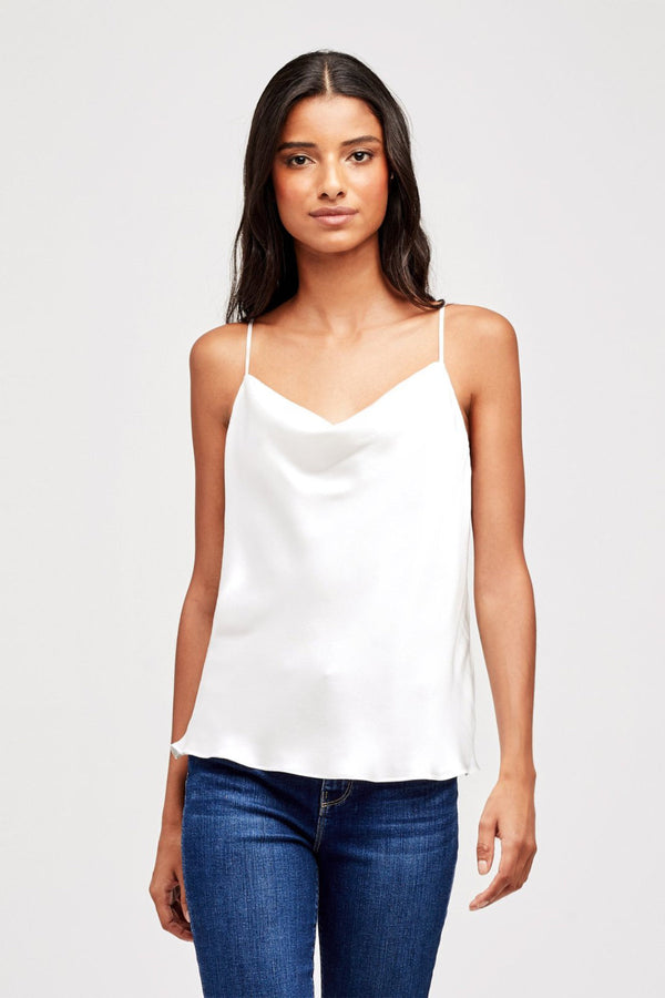 Kay Cowl Tank in White