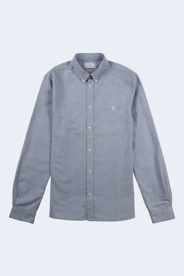 Kentin Brushed Oxford Button Down Shirt in Sky Blue