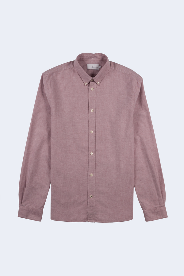 Klark Brushed Oxford Button Down Shirt in Red