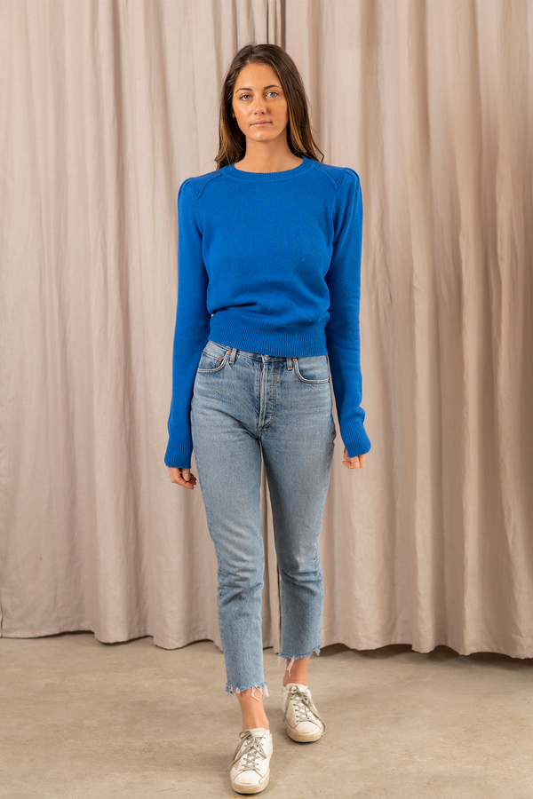 Kleely Knit Sweater in Electric Blue