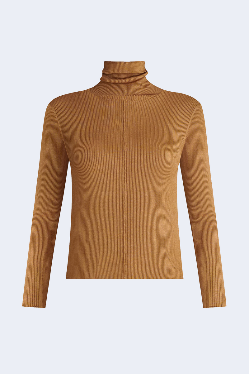 Kreia Turtleneck Pullover in Bronze