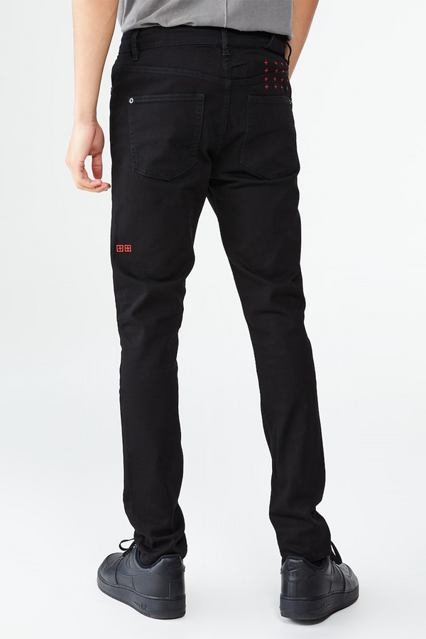 Men's Chitch Laid Black Pant in Black