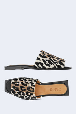 Leopard Print Slipper in Leopard