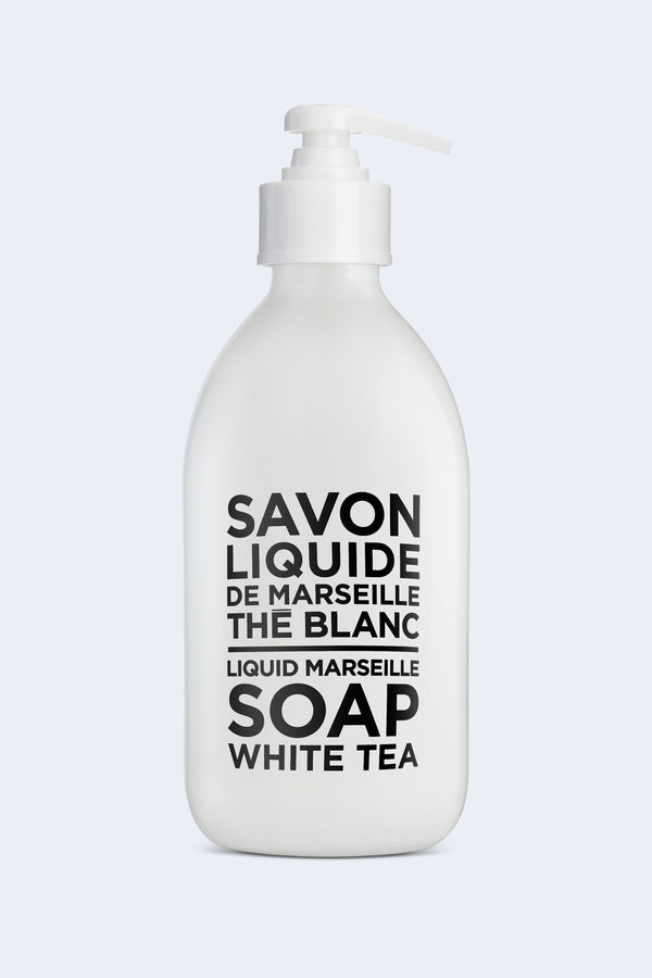 Liquid Marseille Soap White Tea Glass Bottle