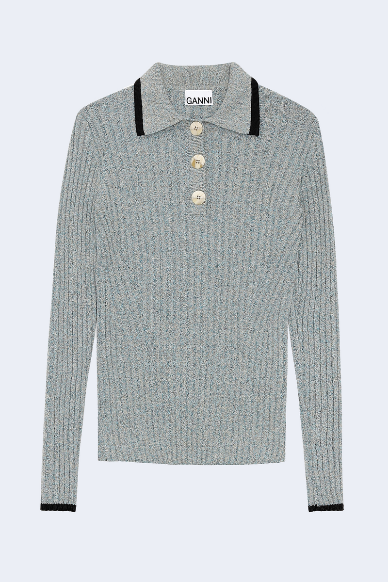 Linen Knit Long Sleeve in Bachelor Blue