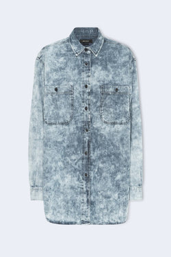 Lynton Jean Button Down Shirt in Blue