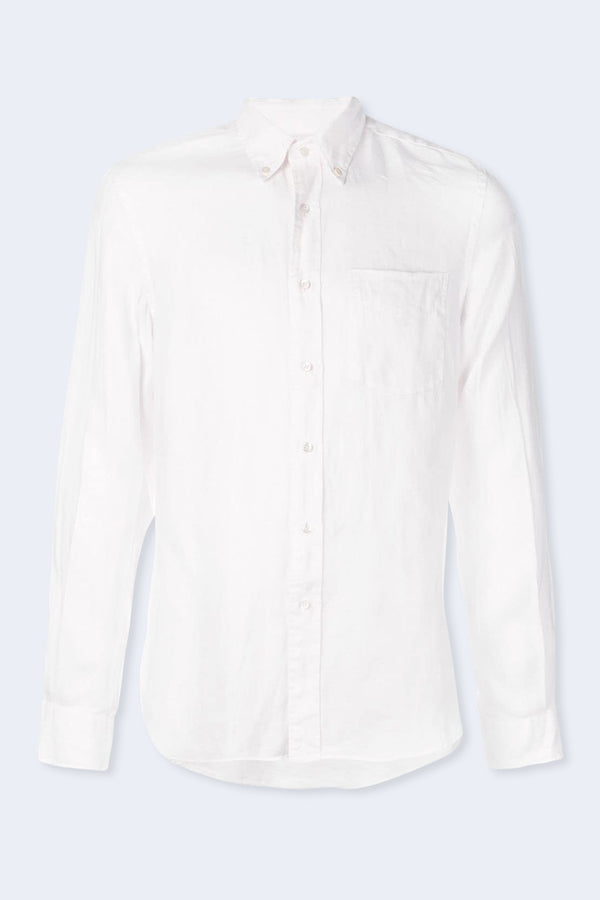 Magra Linen Button Down Shirt in Rose