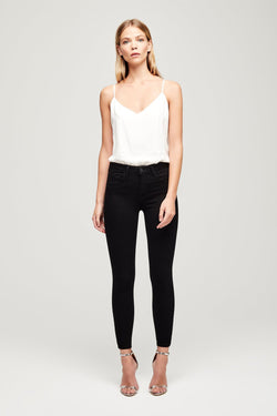Margot High Rise Skinny Jean in Noir