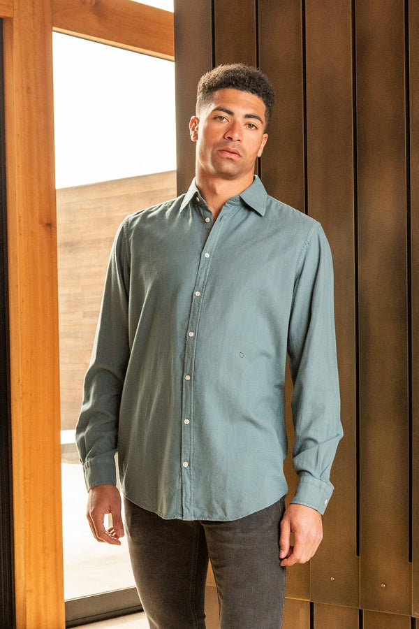 Genova Flannel Shirt in Amazonite