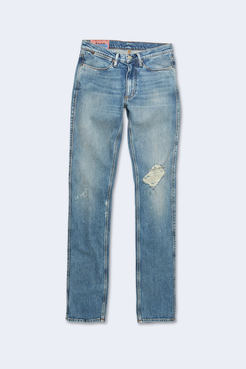 Men's Max Destroyed Denim Length 32 in Mid Blue