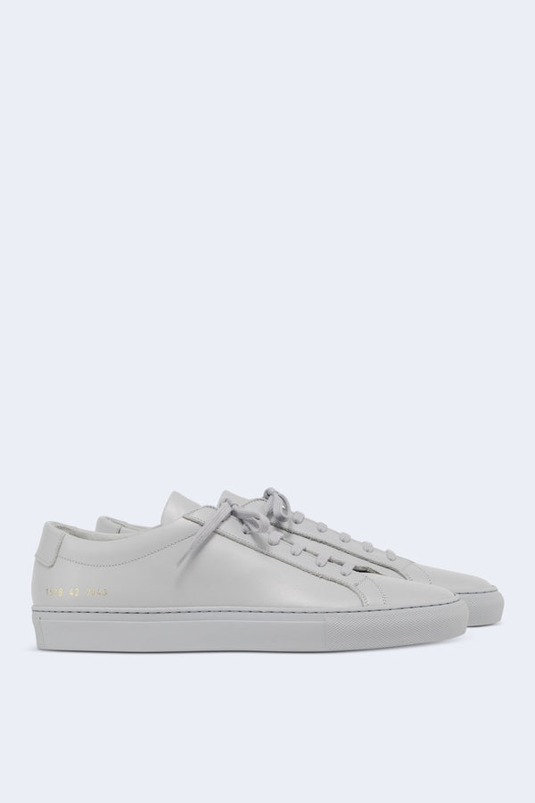 Men's Original Achilles Low Leather Sneaker in Grey