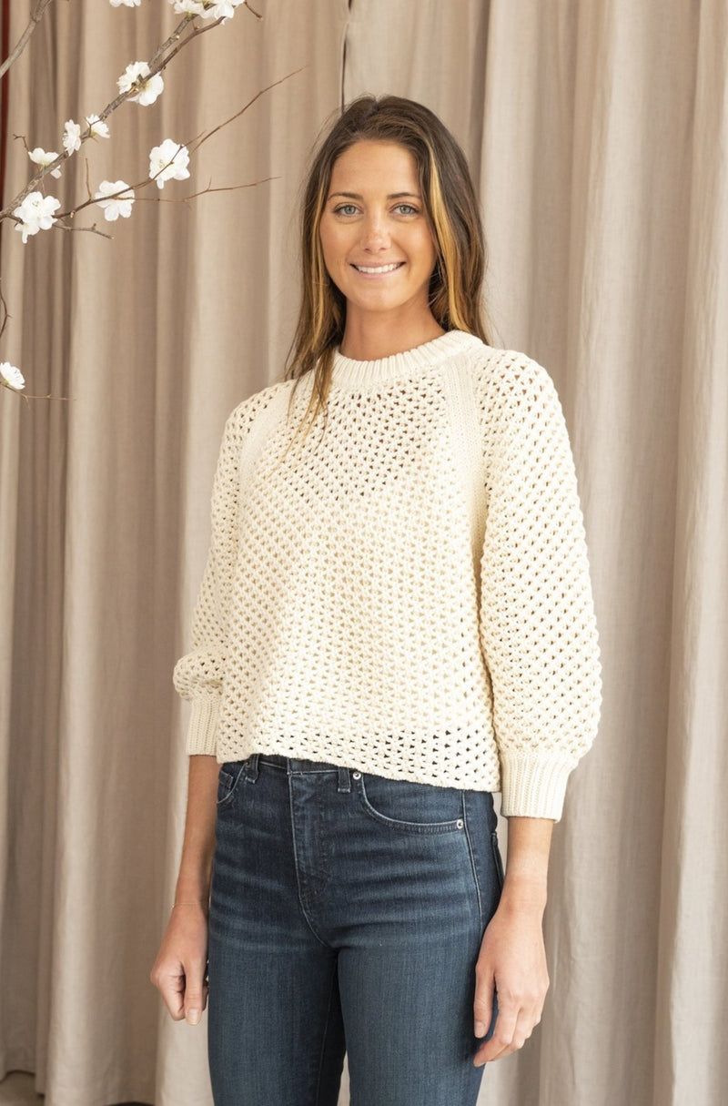 Comfy Merel Funnel Neck Sweater in Cream