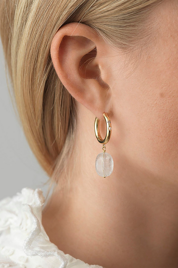 Cloudy Bay Mermaid Tears Hoops in Gold