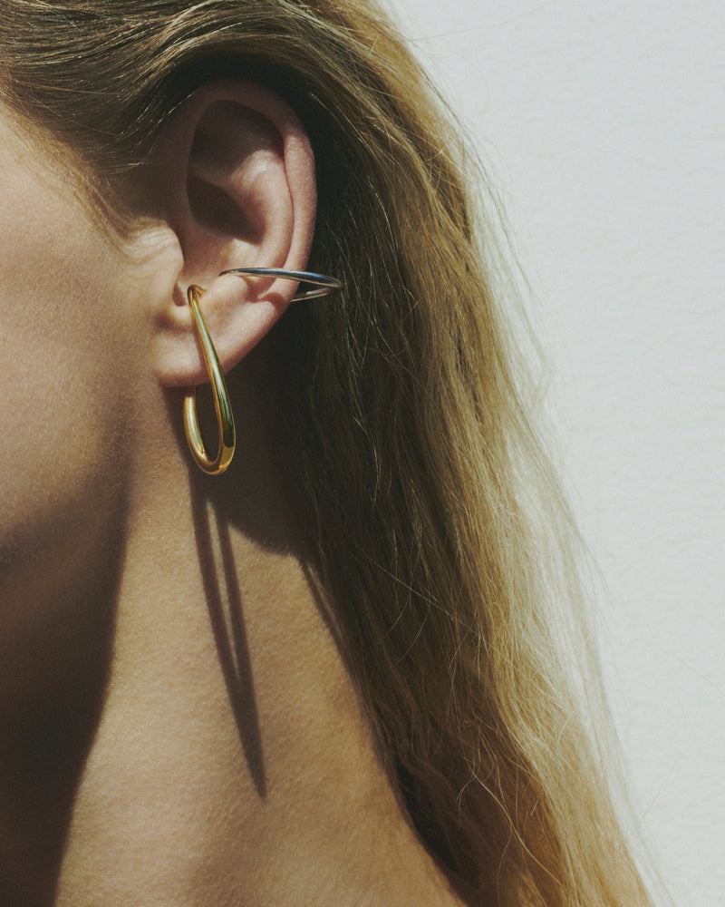 Mirage Single Earring in Yellow Vermeil and Silver