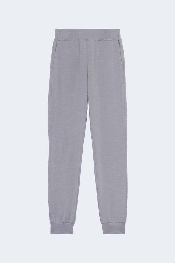 Moss High Rise Jogger Pant in Heather Grey