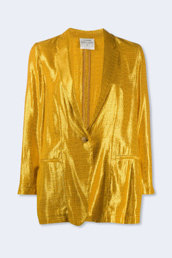 Mozaik Jacquard Lurex Jacket in Oro