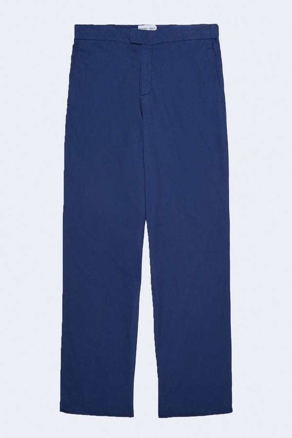 Tailored Garment Dyed Seersucker Chinos in Navy