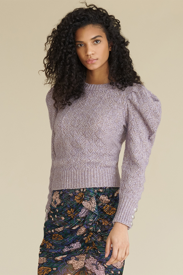 Novah Crewneck Sweater in Lilac