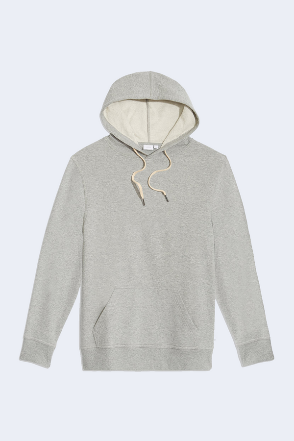 Nico Solid Hoodie in Heather Grey