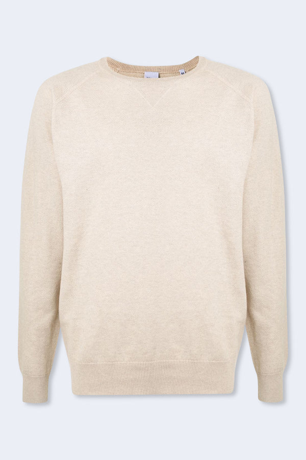 Raglan Knit Sweatshirt in Cream