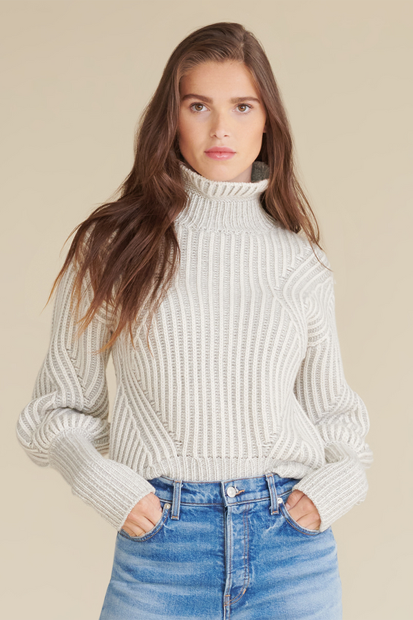 Rebi Sweater in Ivory Grey