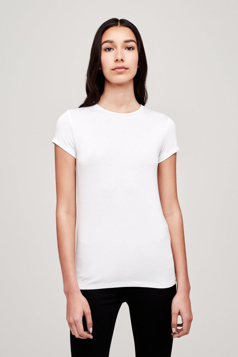 Ressi Modal Scoopneck Tee in White