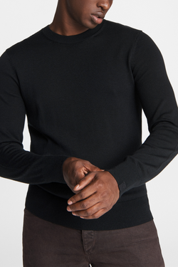 Men's Riley Crewneck Sweater in Black