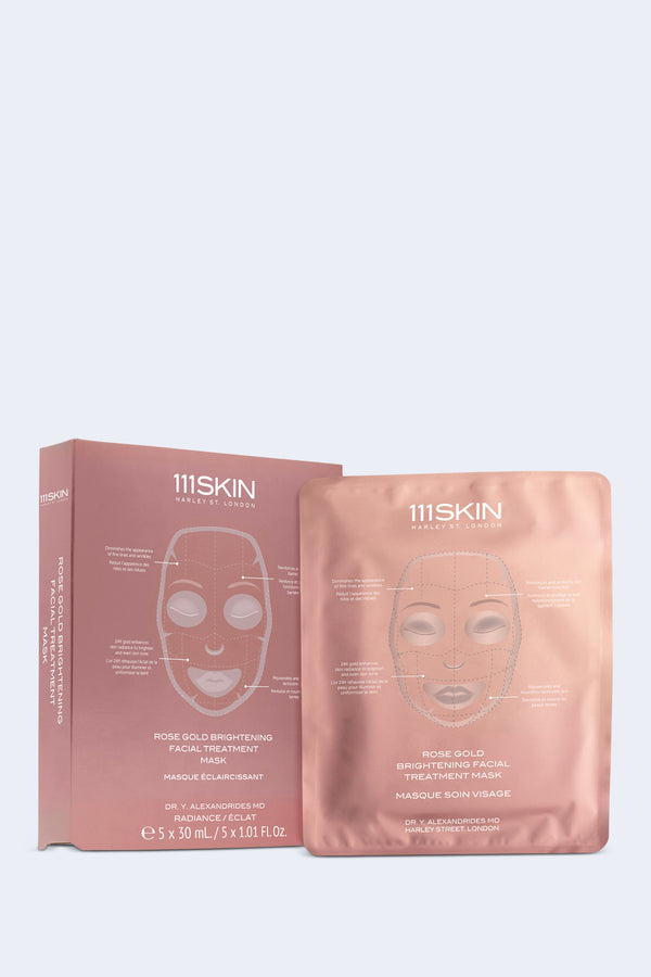 Rose Gold Brightening Facial Treatment Mask (Single)