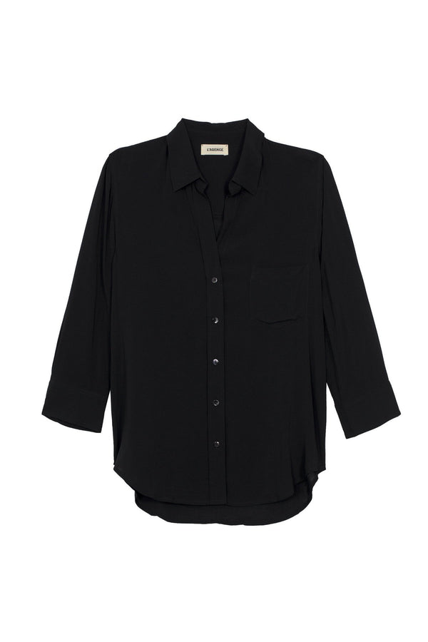 Ryan 3/4 Sleeve Blouse in Black