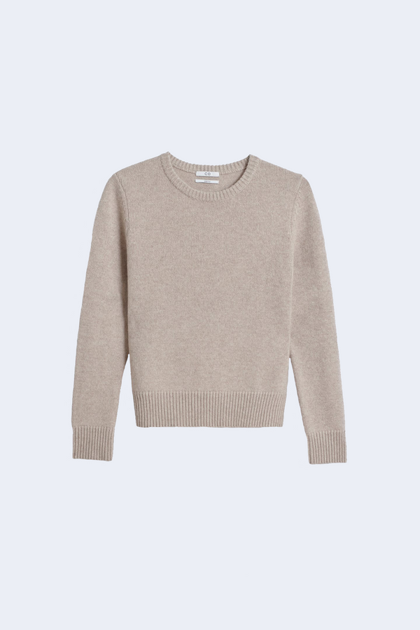 Cashmere Crewneck Sweater in Sand Melange