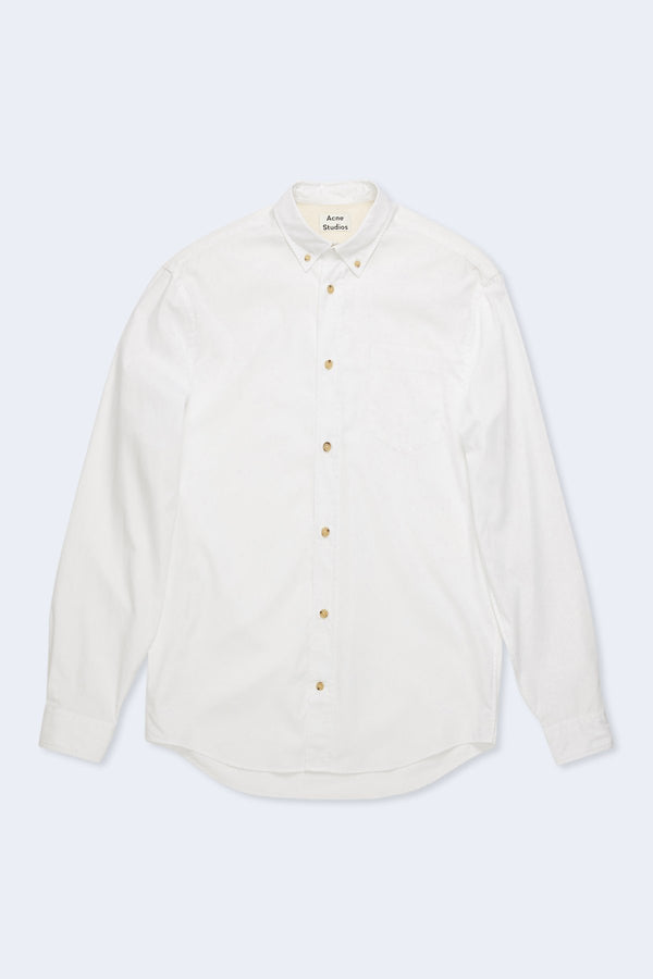 Men's Sarkis Soft Poplin Shirt in Optic White