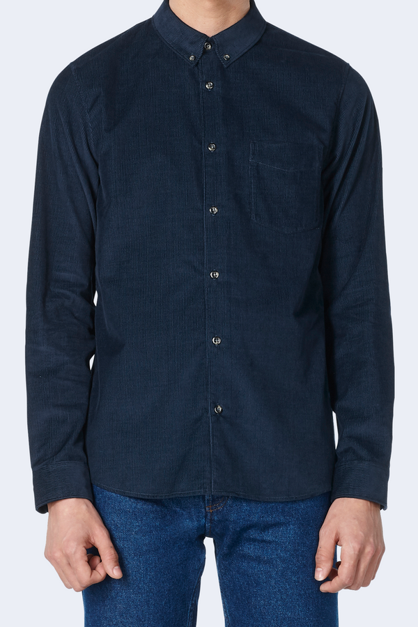 Chemise Serges Shirt in Navy