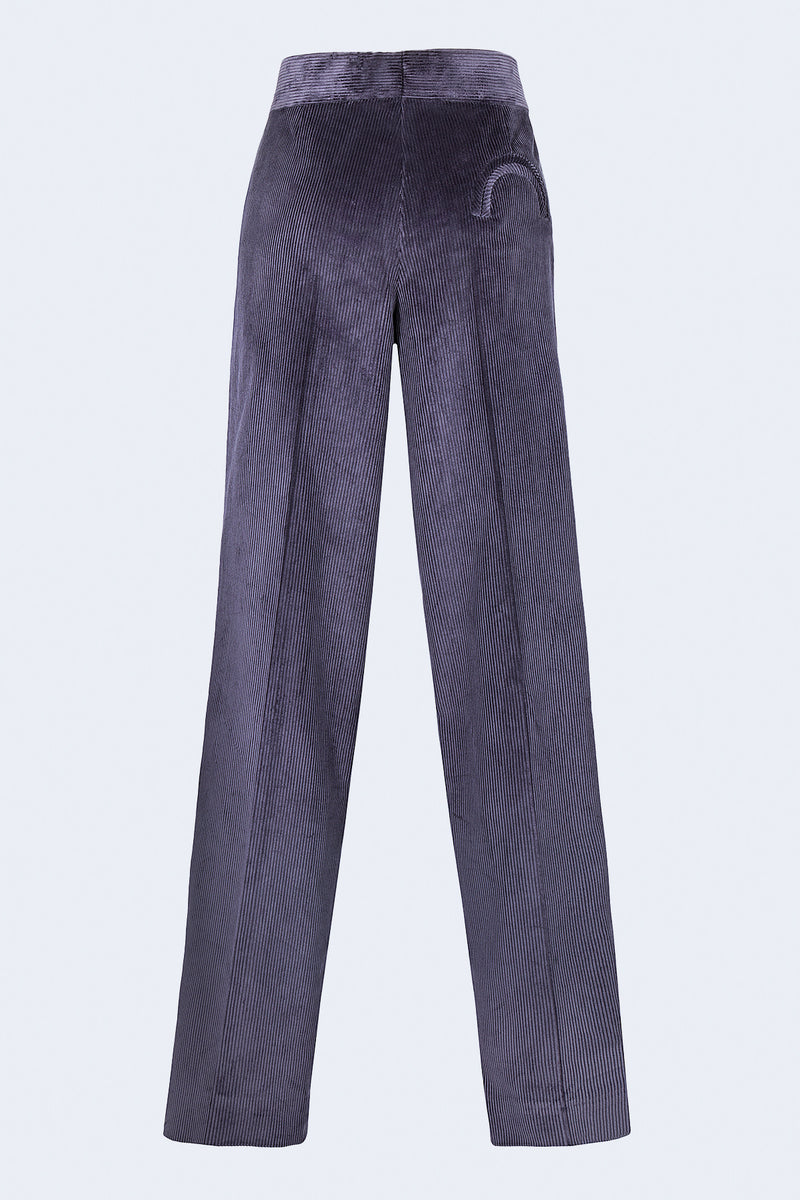 Classic Touch Purple Camargue Pants in Purple