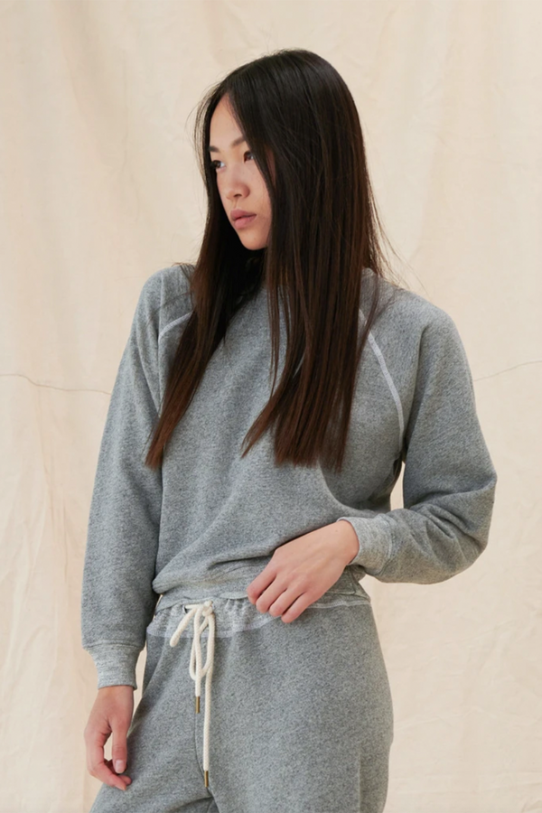 The Shrunken Sweatshirt in Varsity Grey