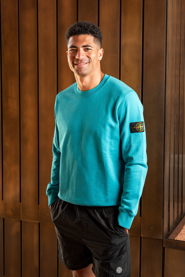 Basic Sweatshirt in Turquoise