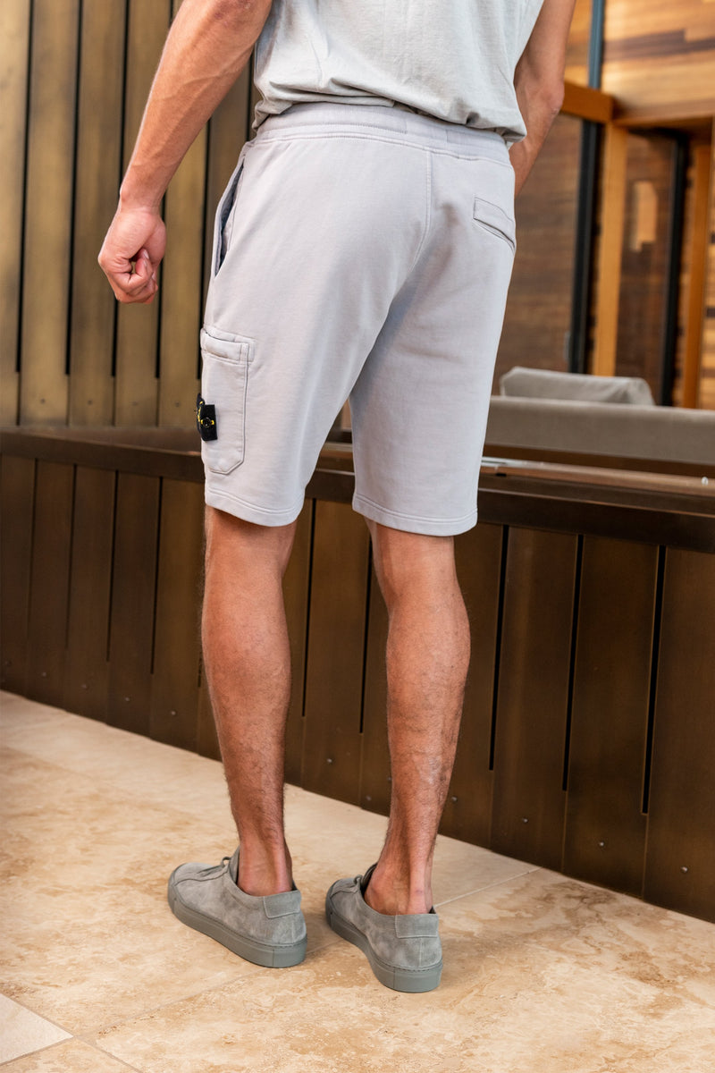 Fleece Shorts Drawstring with Side Pocket in Dust