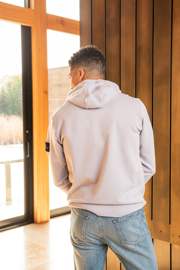 Hooded Sweatshirt with Front Pocket in Dust