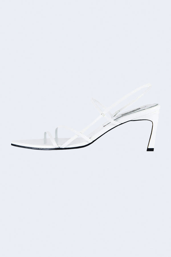 3 Strappy Pointed Sandals in White