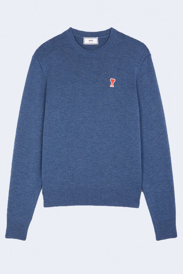 Pull Over Sweater Ami De Coeur in Blue Chine