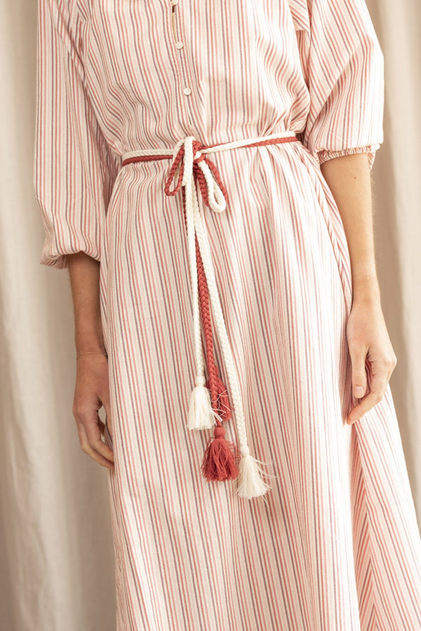 The Derby Dress in Sunset Stripe