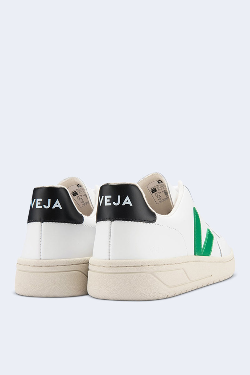 Men's V-12 Extra Sneaker in White Emeraude Black