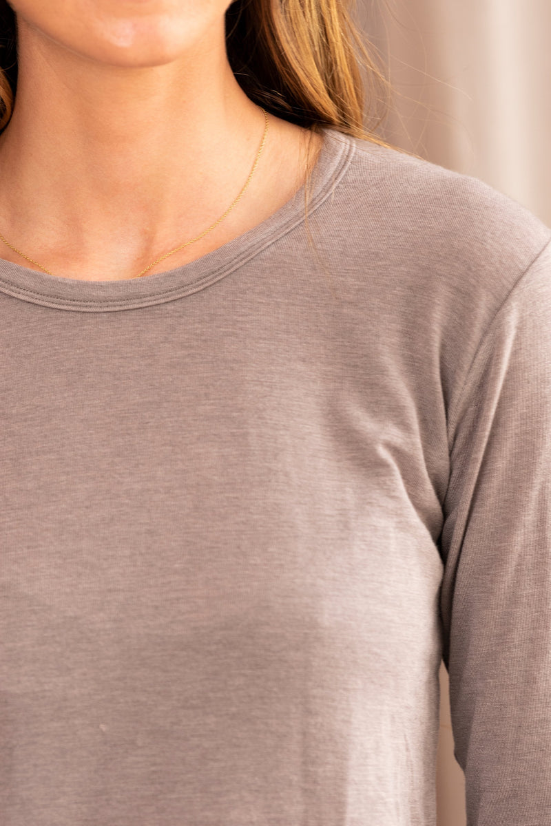 Tencel Cashmere Long Sleeve Tee