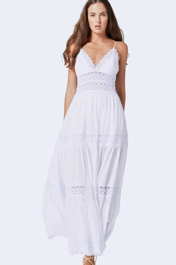 Cindy Long Dress in White