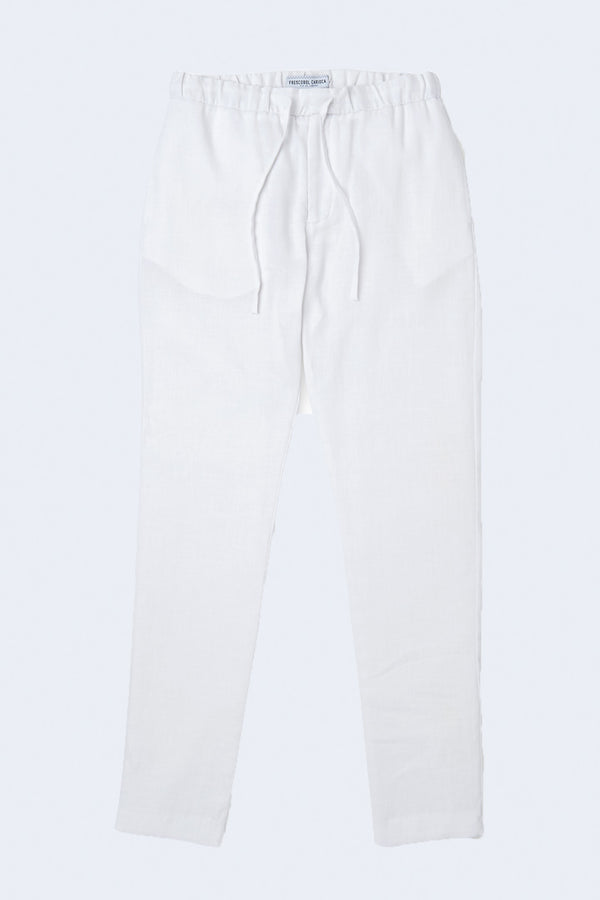 Sport Linen Chinos in White