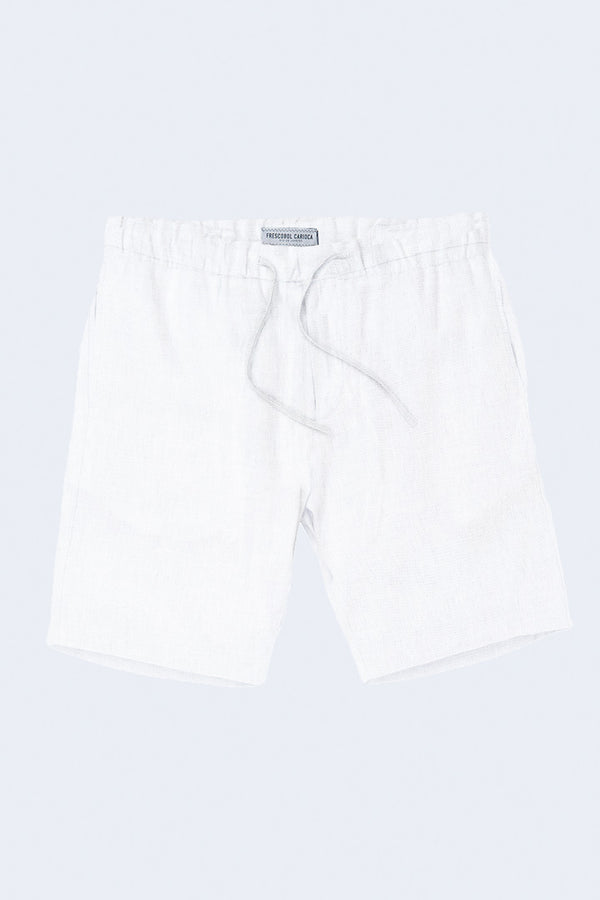 Sport Linen Shorts in White