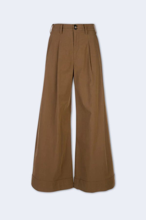 Winter Poplin Pant in Brown