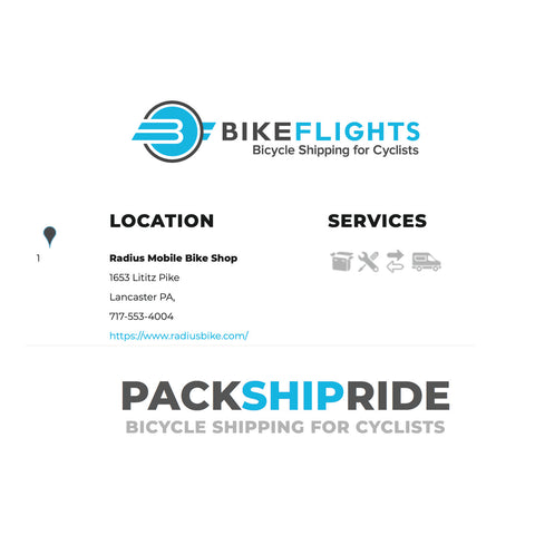 Bike Flights | Radius Mobile Bike Shop is a preferred service provider