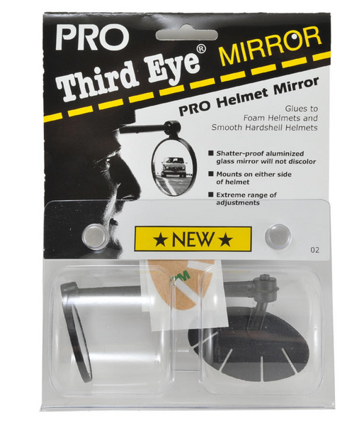 3rd Eye Pro Mirror: Adhesive Fits Most Helmets