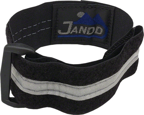 Jandd Leg Band Black Reflective Ankle Strap Bicycle Commuter